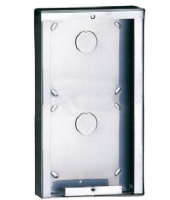 POWERCOM 2 MODULE STAINLESS STEEL SURFACE-MOUNTED HOUSING